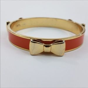 Brighton Jewelry - Brighton MFIL Bow Bangle Orange gold Tone My Flat